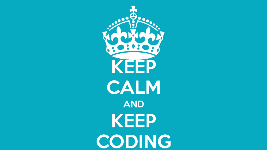Keep calm and keep coding with code(love)