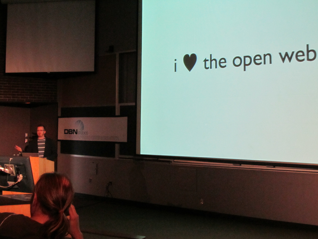 open web with code(love)